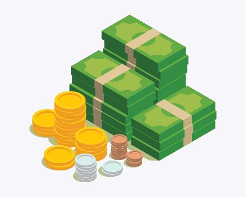 Isometric Bills & Coins